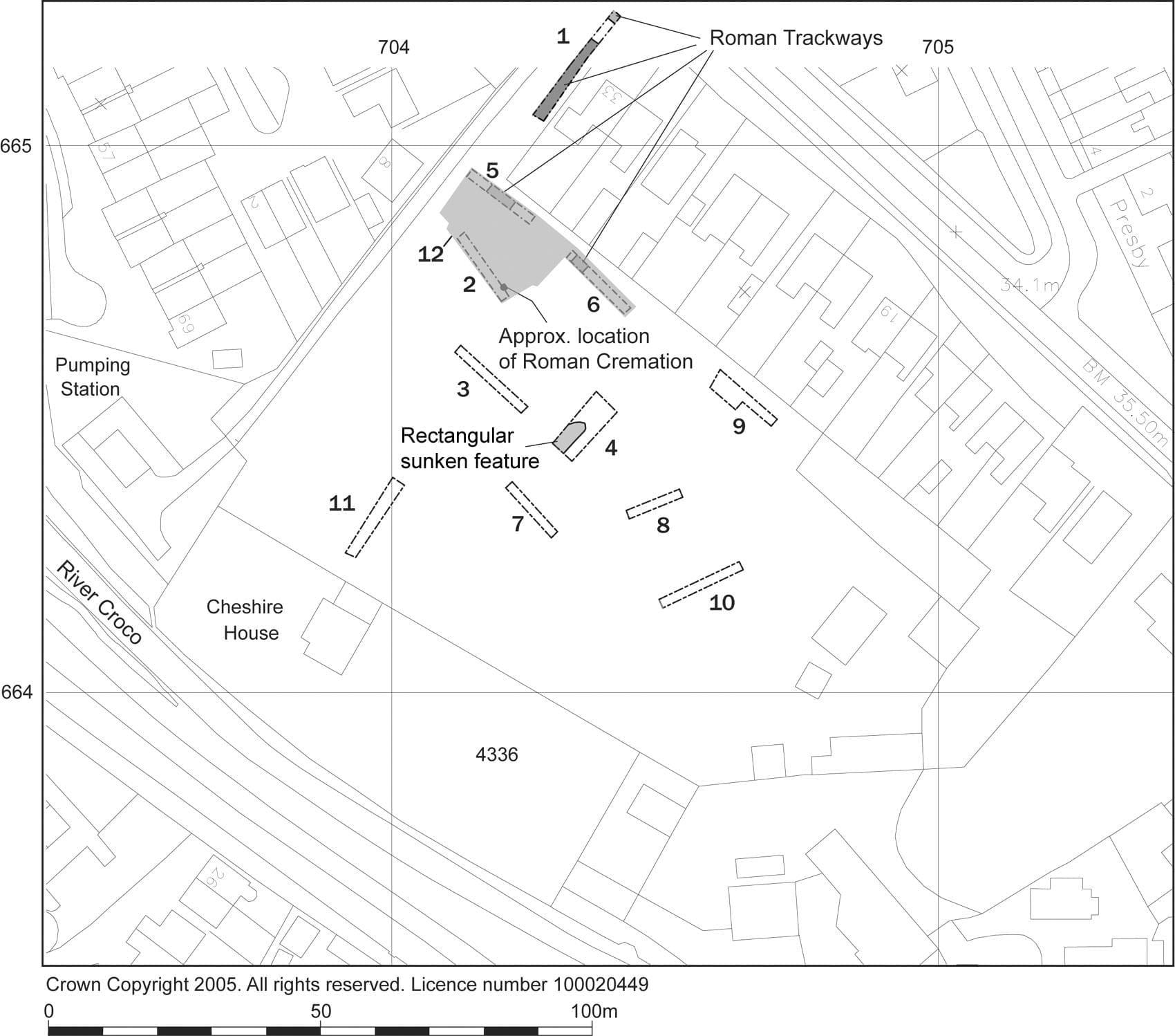 Location of Excavation Areas