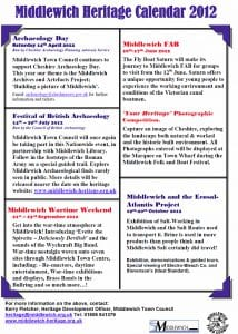 Middlewich Heritage Events 2012