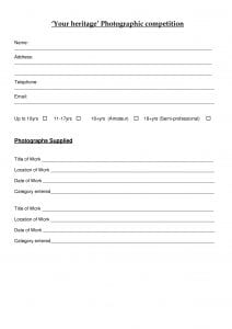 Entry forms for 2015